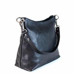SHOPPER AVA leather black