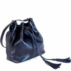 MACY SHOULDER BAG leather blue