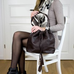 manbefair MACY SHOULDER BAG leather brown