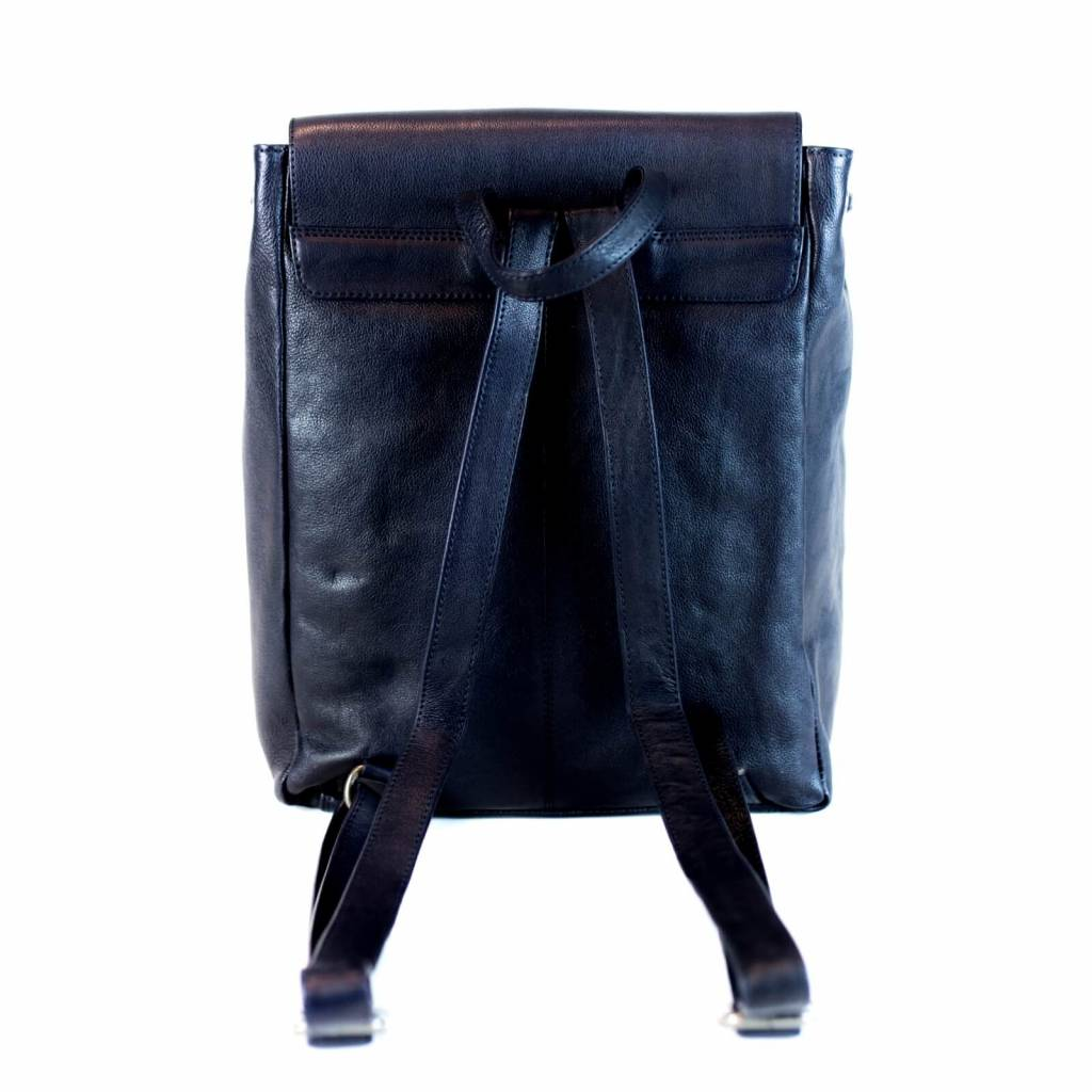 37890b96825b3 City Rucksack Alice aus Vintage Öko-Leder in Blau