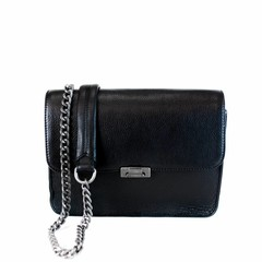 CLUTCH JANICE IN CHAINS eco-leather black