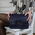manbefair CLUTCH JANICE IN CHAINS eco-leather blue