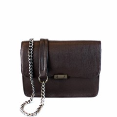manbefair EVENING BAG JANICE IN CHAINS leather brown