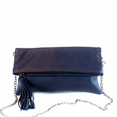 FOLDING CLUTCH ALLY eco-leather blue