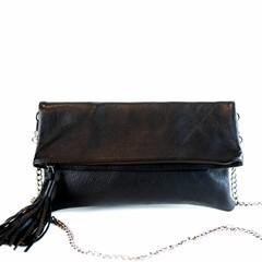 CLUTCH BAG  ALLY eco-leather black