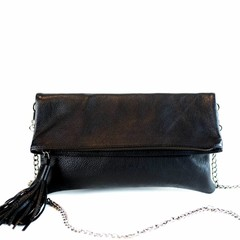 FOLDING CLUTCH ALLY eco-leather black