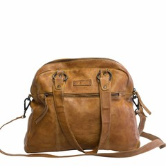 manbefair VINTAGE SHOPPER HENRIETTA leather cognac