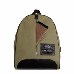 manbefair BACKPACK GIRONA  canvas olive