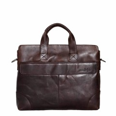 OXFORD SLIM BRIEFCASE leather darkbrown