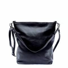 SHOPPER THERESA leather black