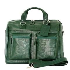 TRAVEL BAG VENEZIA  leather green croco