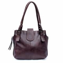 MARLA HANDBAG leather chocolate brown