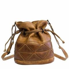 SMALL SHOULDER BAG BARI leather cognac