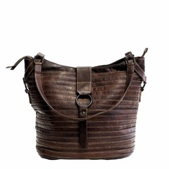 SHOPPER BERLIN leather darkbrown