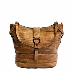 manbefair SHOPPER BERLIN leather cognac