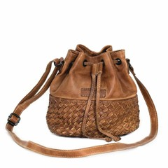 manbefair SMALL SHOULDER BAG SYDNEY leather cognac