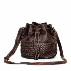 manbefair SMALL SHOULDER BAG SYDNEY leather darkbrown