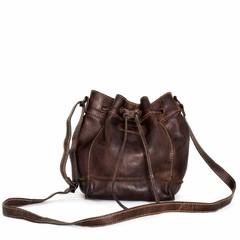 SMALL SHOULDER BAG ELLA leather brown