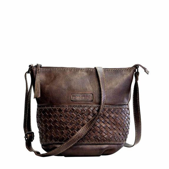 e4999c89cb Shoulderbag Nice vintage Leather in Darkbrown