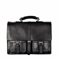 manbefair GEORGE BRIEFCASE black leather (B-Goods)
