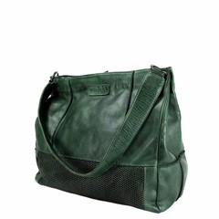 manbefair SHOPPER FIRENZE leather green