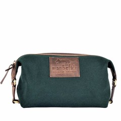 TOILETRY BAG KARL canvas green