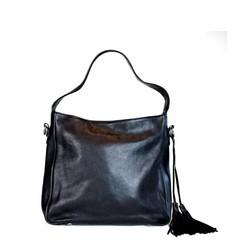 manbefair SHOPPER MILANO leather black