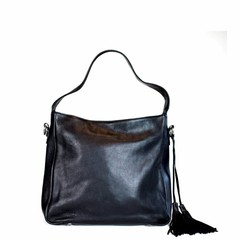 SHOPPER MILANO leather black