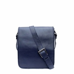 SHOULDER BAG AMBER leather blue