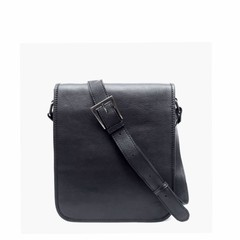 manbefair SHOULDER BAG AMBER leather black