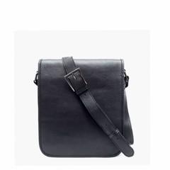 SHOULDER BAG AMBER leather black
