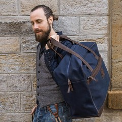 manbefair TRAVEL BAG  BERLIN canvas blue