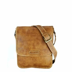 manbefair SHOULDER BAG MAYA leather cognac