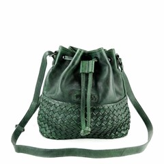 manbefair SMALL SHOULDER BAG SYDNEY leather green