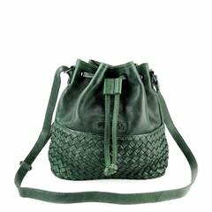 SMALL SHOULDER BAG SYDNEY leather green