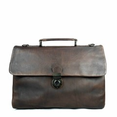 BUSINESS BAG ODIN leather dark-brown