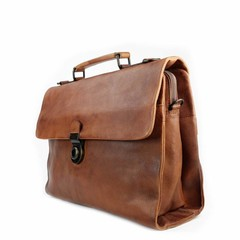 manbefair BUSINESS BAG ODIN leather reddish brown