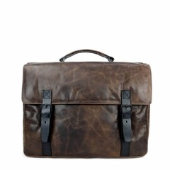 LAPTOPBAG RUBEN leather smokey  brown