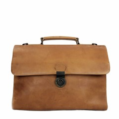 BUSINESS BAG ODIN leather tan