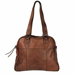 manbefair VINTAGE SHOPPER HARRIET  leather reddish brown