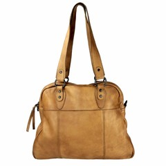 manbefair VINTAGE SHOPPER HARRIET  leather cognac