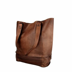 manbefair XL SHOPPER LORENA  leather reddish brown