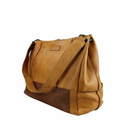manbefair SHOPPER FIRENZE leather cognac