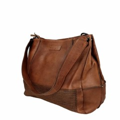 manbefair SHOPPER FIRENZE leather reddish brown