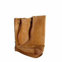 manbefair XL SHOPPER LORENA leather cognac