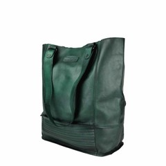 manbefair XL SHOPPER LORENA leather green