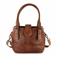 MARLA HANDBAG leather reddish brown