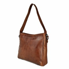 SHOPPER MELODY leather reddish brown