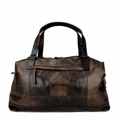 TRAVEL BAG MILES leather  smokey-brown