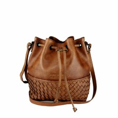 manbefair SMALL SHOULDER BAG SYDNEY leather reddish brown